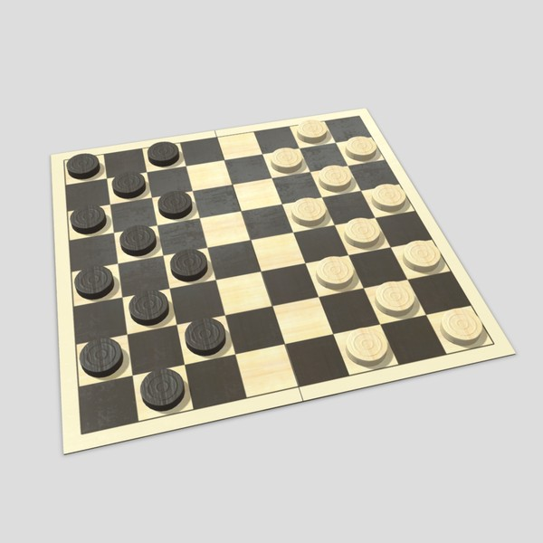 Checkers - low poly PBR 3d model