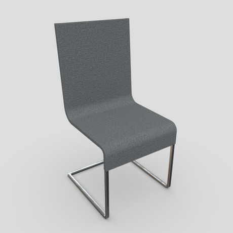 Chair 4 - low poly PBR 3d model