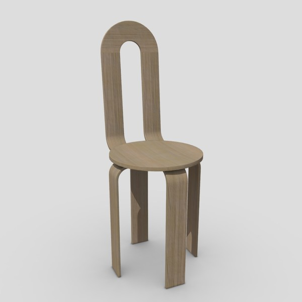 Chair 3 - low poly PBR 3d model