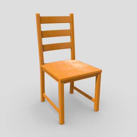 Chair 6 - low poly PBR 3d model