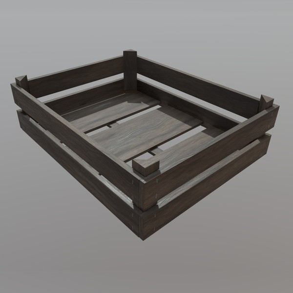 Crate 2 - low poly PBR 3d model