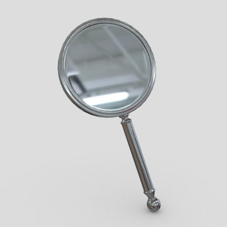 Hand Mirror 5 - low poly PBR 3d model