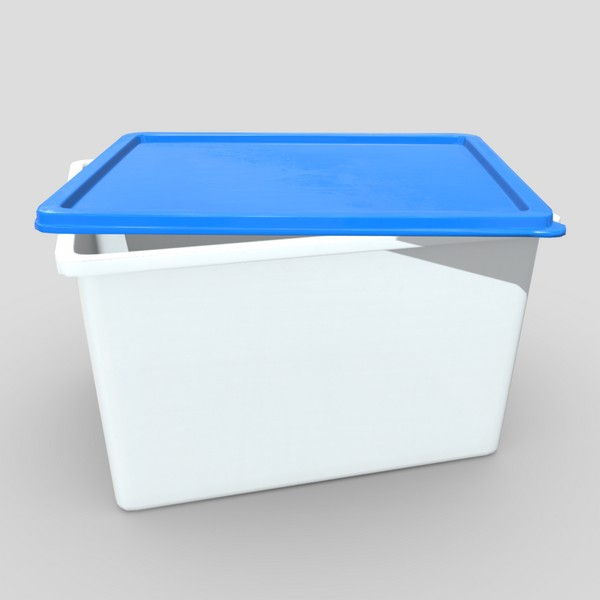 CC0 - Food Container 4 - low poly PBR 3d model
