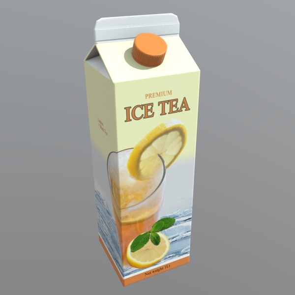 Ice Tea - low poly PBR 3d model