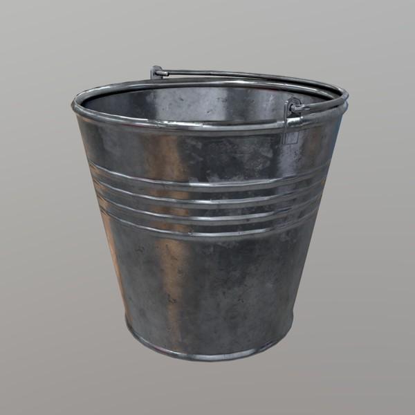 Bucket - low poly PBR 3d model