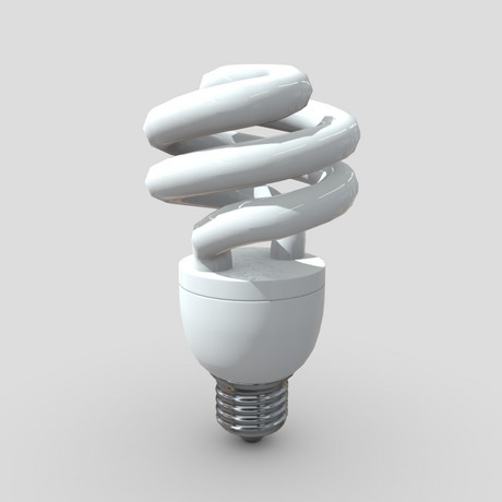 Light Bulb 5 - low poly PBR 3d model