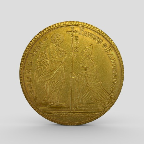 Gold Coin 5 - low poly PBR 3d model