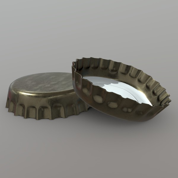 Bottle Cap - low poly PBR 3d model