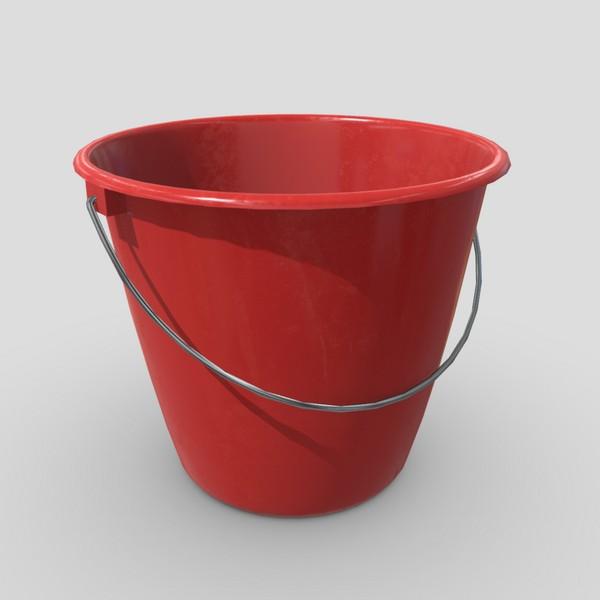 CC0 - Bucket - low poly PBR 3d model