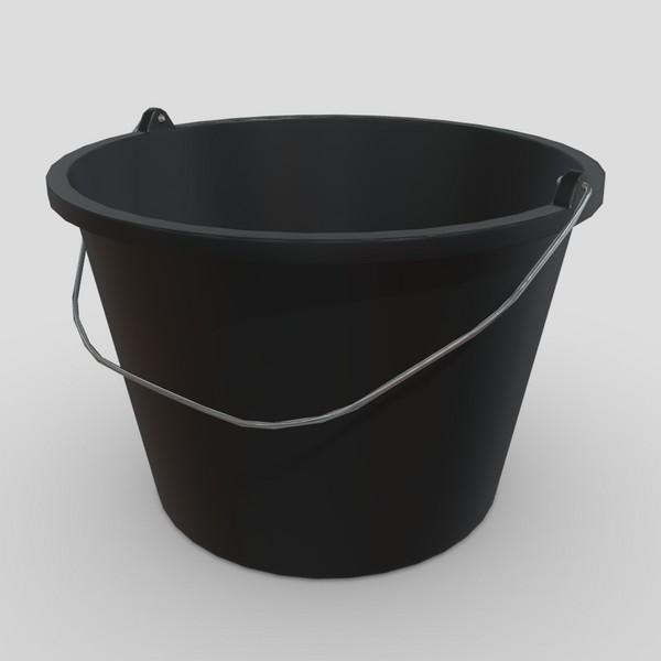 Bucket 6 - low poly PBR 3d model