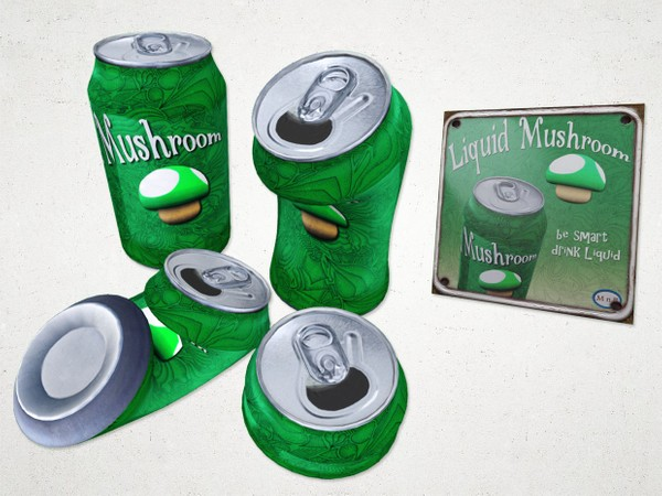 Beverage Can Set - 3D Model