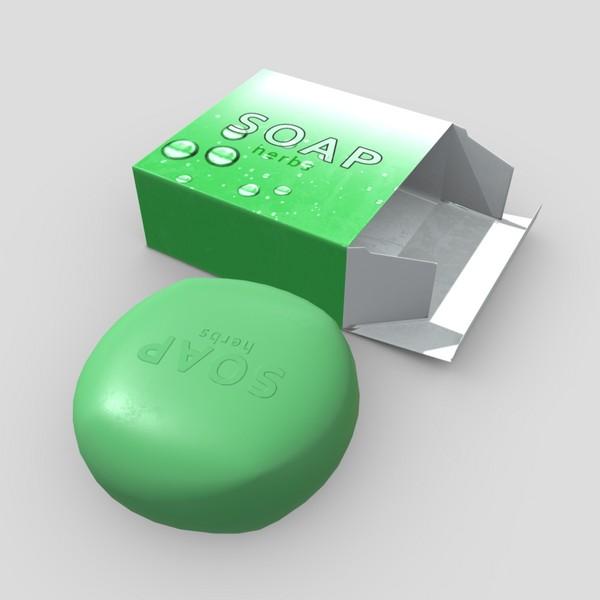 CC0 - Soap 4 - low poly PBR 3d model