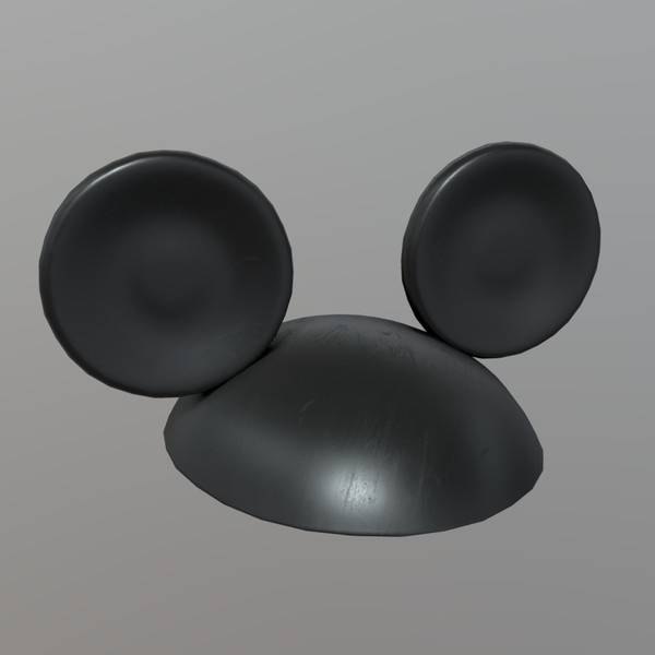 Mouse Ears - low poly PBR 3d model