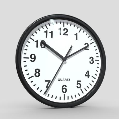 Wall Clock - low poly PBR 3d model