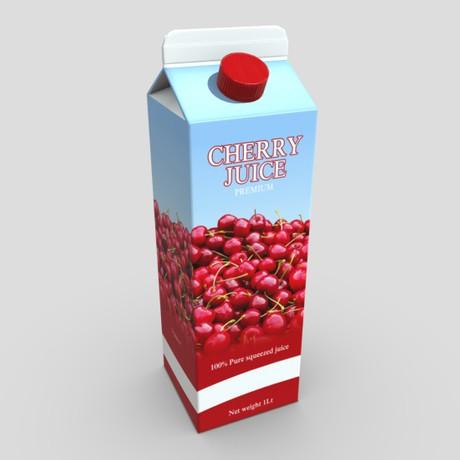 Cherry Juice - low poly PBR 3d model
