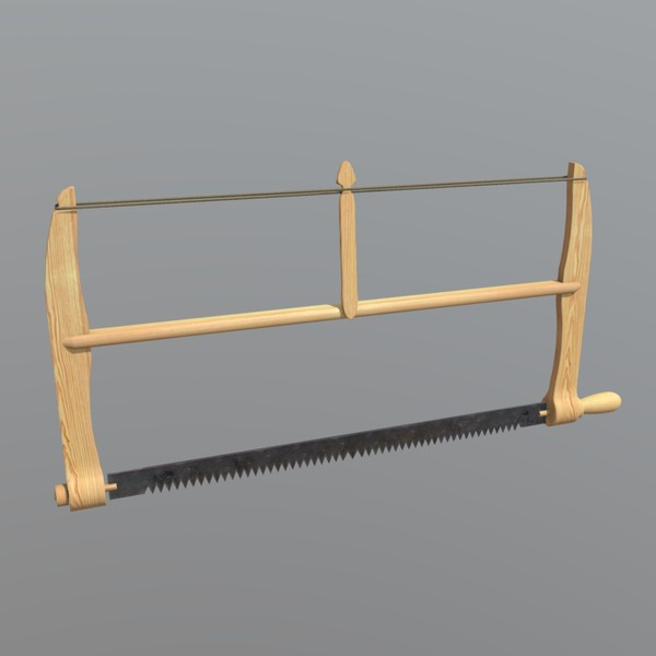 Frame Saw - low poly PBR 3d model