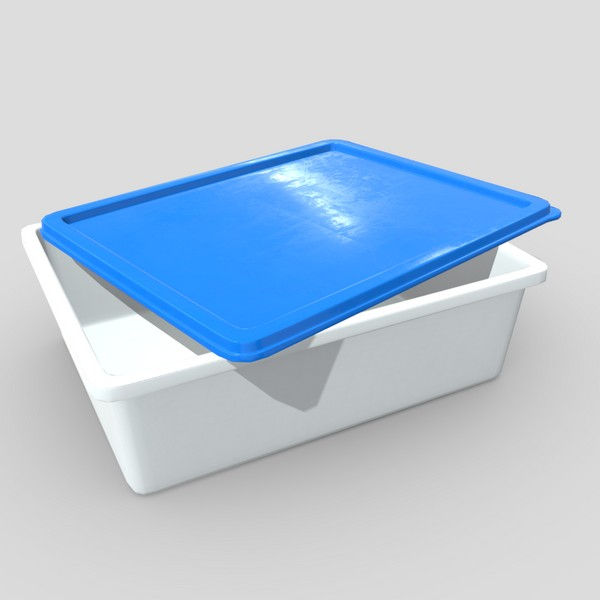 Food Container - low poly PBR 3d model