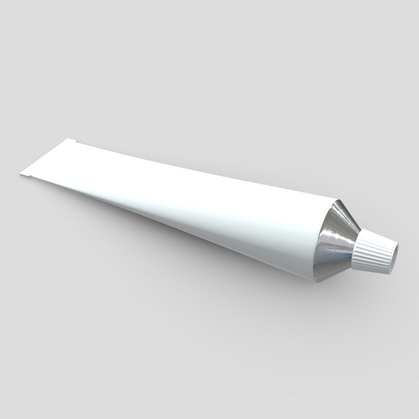 Paste Tube - low poly PBR 3d model
