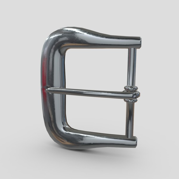 Buckle 4 - low poly PBR 3d model