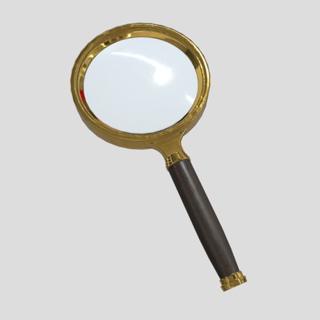 Magnifying Glass 5 - low poly PBR 3d model