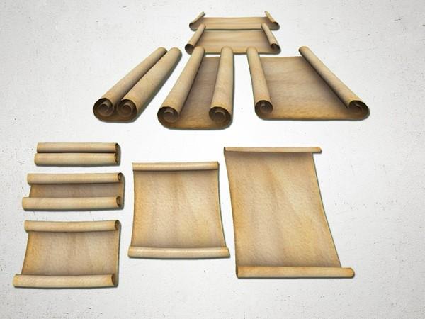 Paper Scroll - 3D Model