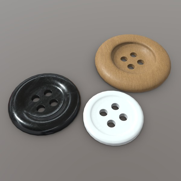 Clothing Button - low poly PBR 3d model
