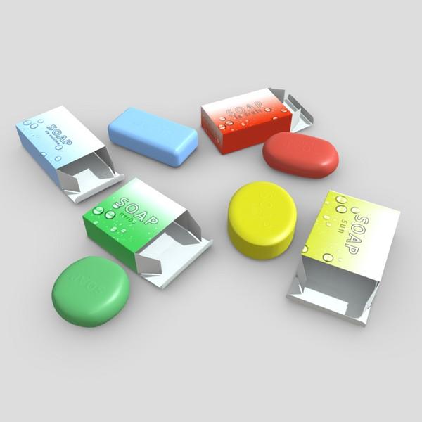 Soap Pack - low poly PBR 3d model