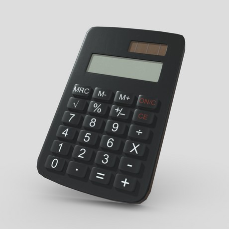 Calculator - low poly PBR 3d model