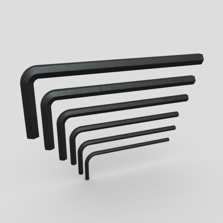 Allen Keys - low poly PBR 3d model