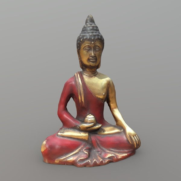 Buddha - low poly PBR 3d model scan