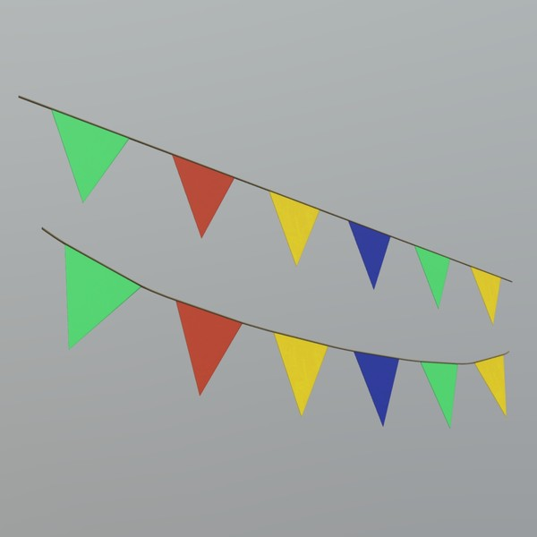 Pennant - low poly PBR 3d model