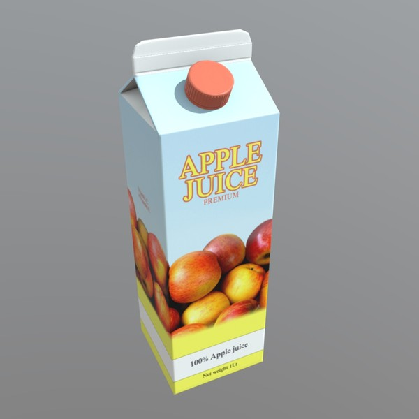 Apple Juice - low poly PBR 3d model