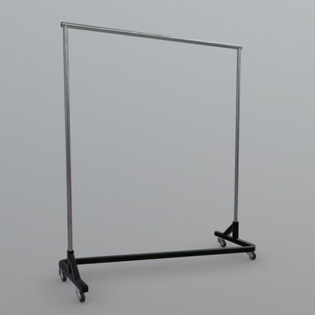 Clothes Rack - low poly PBR 3d model