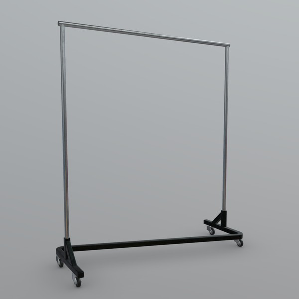 Clothes Rack - low poly PBR 3d model