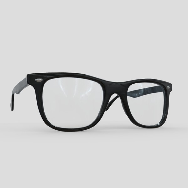Glasses 2 - low poly PBR 3d model