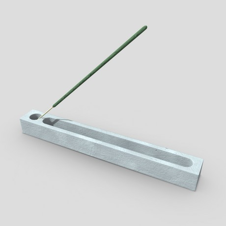 Incense Burner 3 - low poly PBR 3d model
