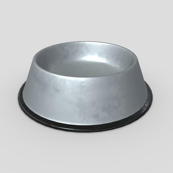 Food Bowl - low poly PBR 3d model