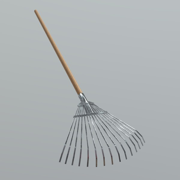 Rake 2 - low poly PBR 3d model