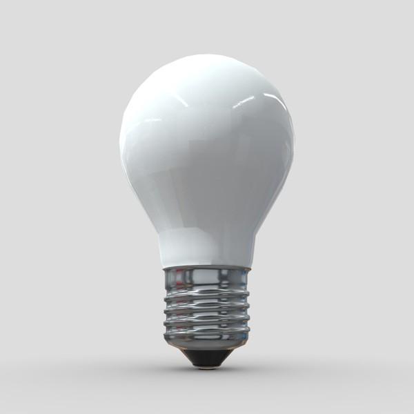 Light Bulb - low poly PBR 3d model