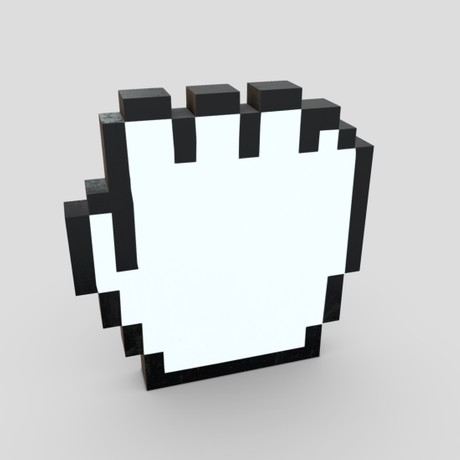 Cursor Hand 4 - low poly PBR 3d model
