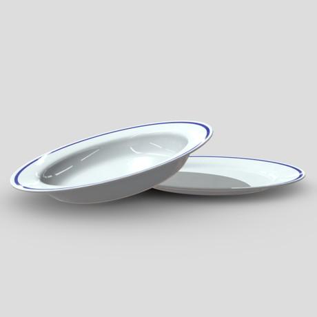 Plates - low poly PBR 3d model