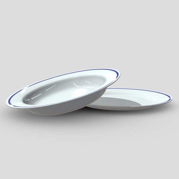 Plates - low poly PBR 3d model