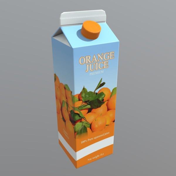 Orange Juice - low poly PBR 3d model
