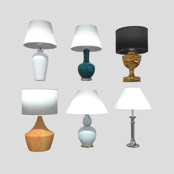 Table Lamp Pack - low poly PBR 3d model