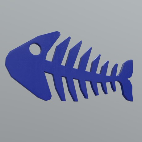 Fishbone 2 - low poly PBR 3d model