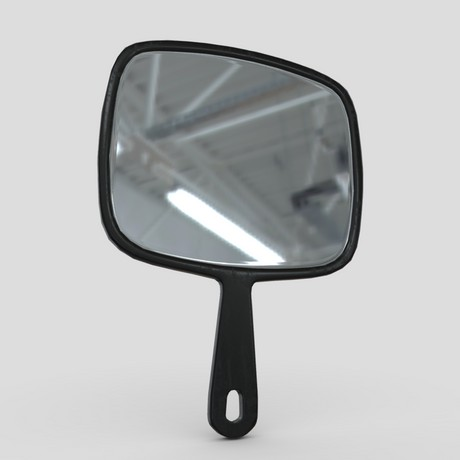 Hand Mirror 6 - low poly PBR 3d model