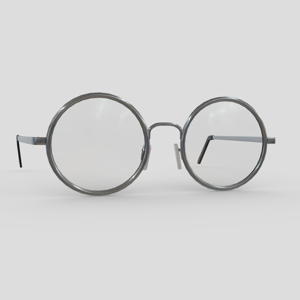 Glasses 3 - low poly PBR 3d model