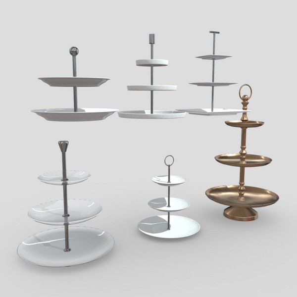 Etagere Pack - low poly PBR 3d model