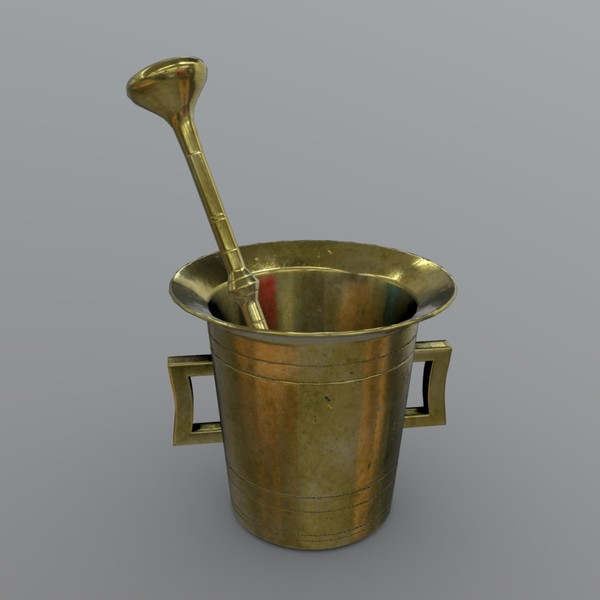 Mortar and Pestle 3 - low poly PBR 3d model