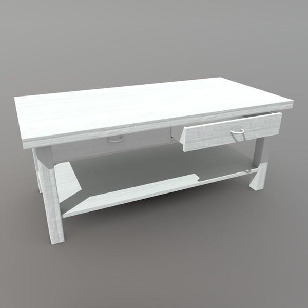Table 2 - low poly PBR 3d model